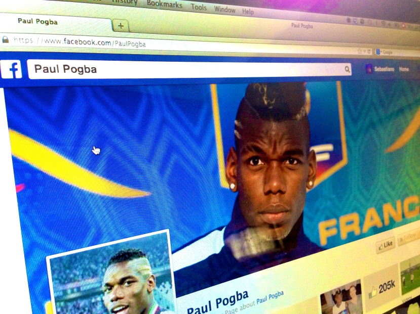 Paul Pogba on Facebook