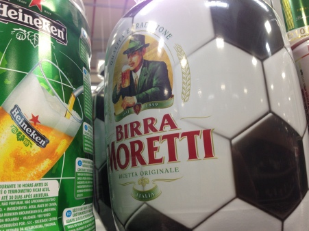 Birra Moretti football beer keg