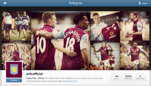 Aston Villa Instagram