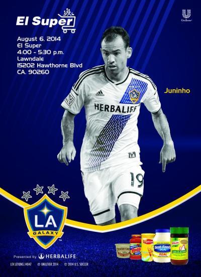 LA Galaxy - Unilever poster