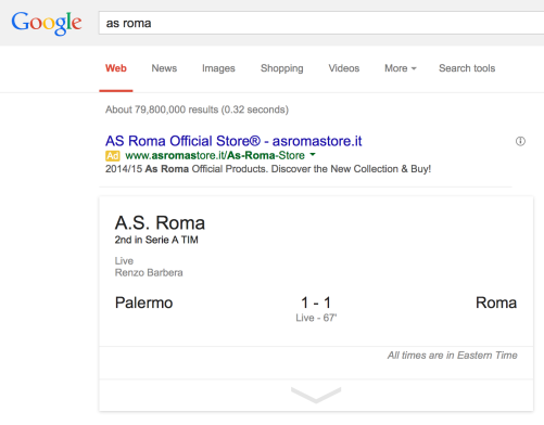 AS Roma Store Adword