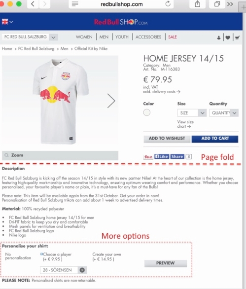 Red Bull Salzburg fan shop item