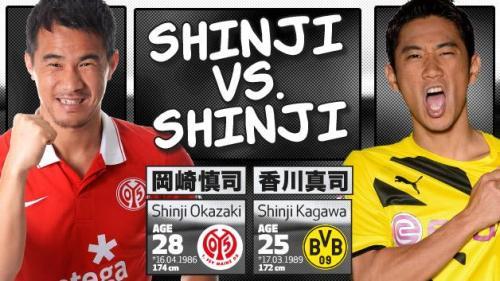 Shinji Okazaki vs Shinji Kagawa