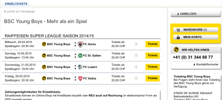 Screenshot from the ticketing platform at bscyb.ch