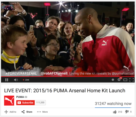 Arsenal Home Kit 2015/16 Launch