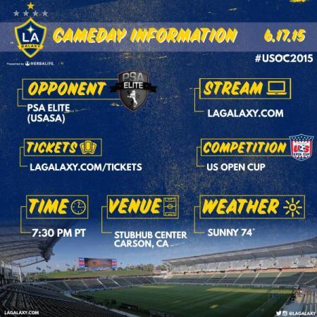 LA Galaxy info tweet