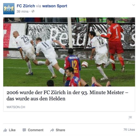 Re-post of FC Zurich article