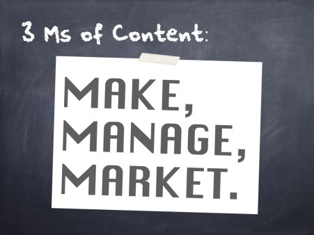 The 3Ms of Content - 1 - overview