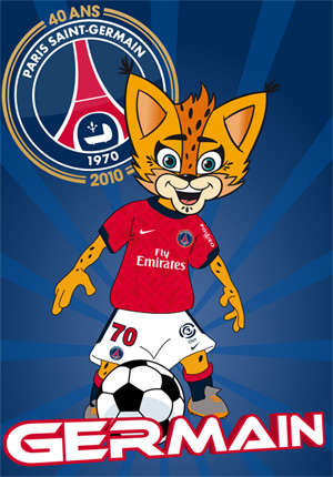 Germain the lynx: Paris Saint-Germain 's mascot launched in 2010 | Source: www.psg.fr