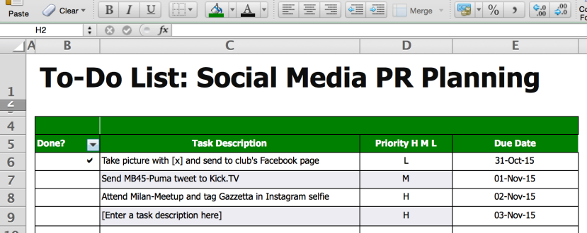 To-Do List for Social Media PR Planning