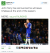 John Terry leaves Chelsea FC | Source: twitter.com/espnfc