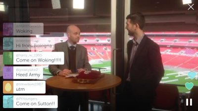 Source: Periscope @FA, '#FATrophy fourth round proper draw from @wembleystadium, 8 February 2016