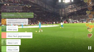 Source: Periscope @OM_Officiel, 7 February 2016
