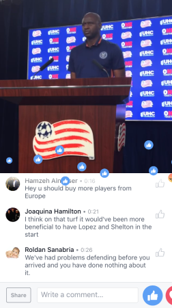 New York City FC press conference on Facebook, Sept. 10, 2016