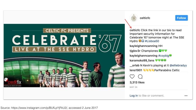 Celtic FC on Instagram 2017