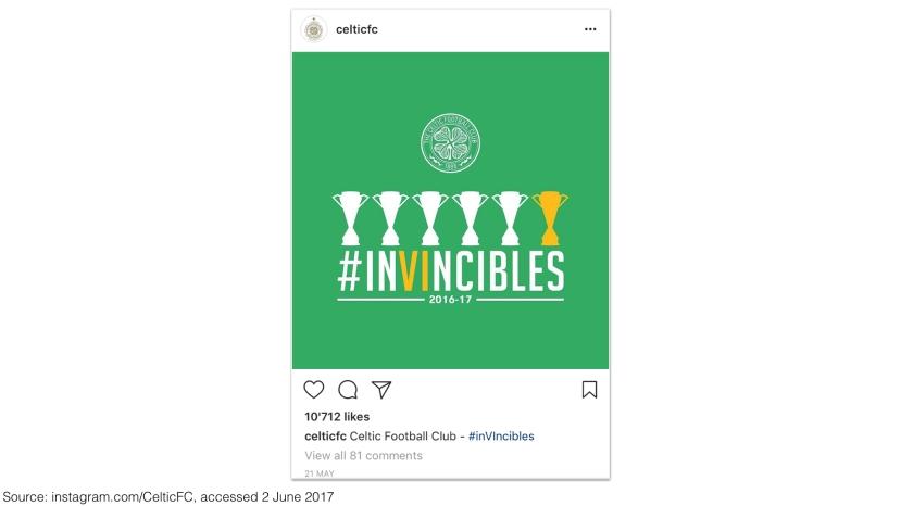 Celtic FC on Instagram 2017 – #inVIncibles