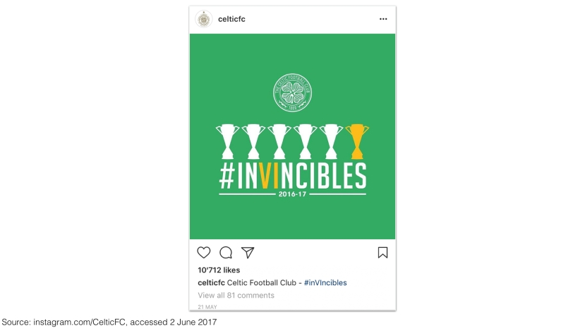 Celtic FC on Instagram 2017 – #inVIncibles
